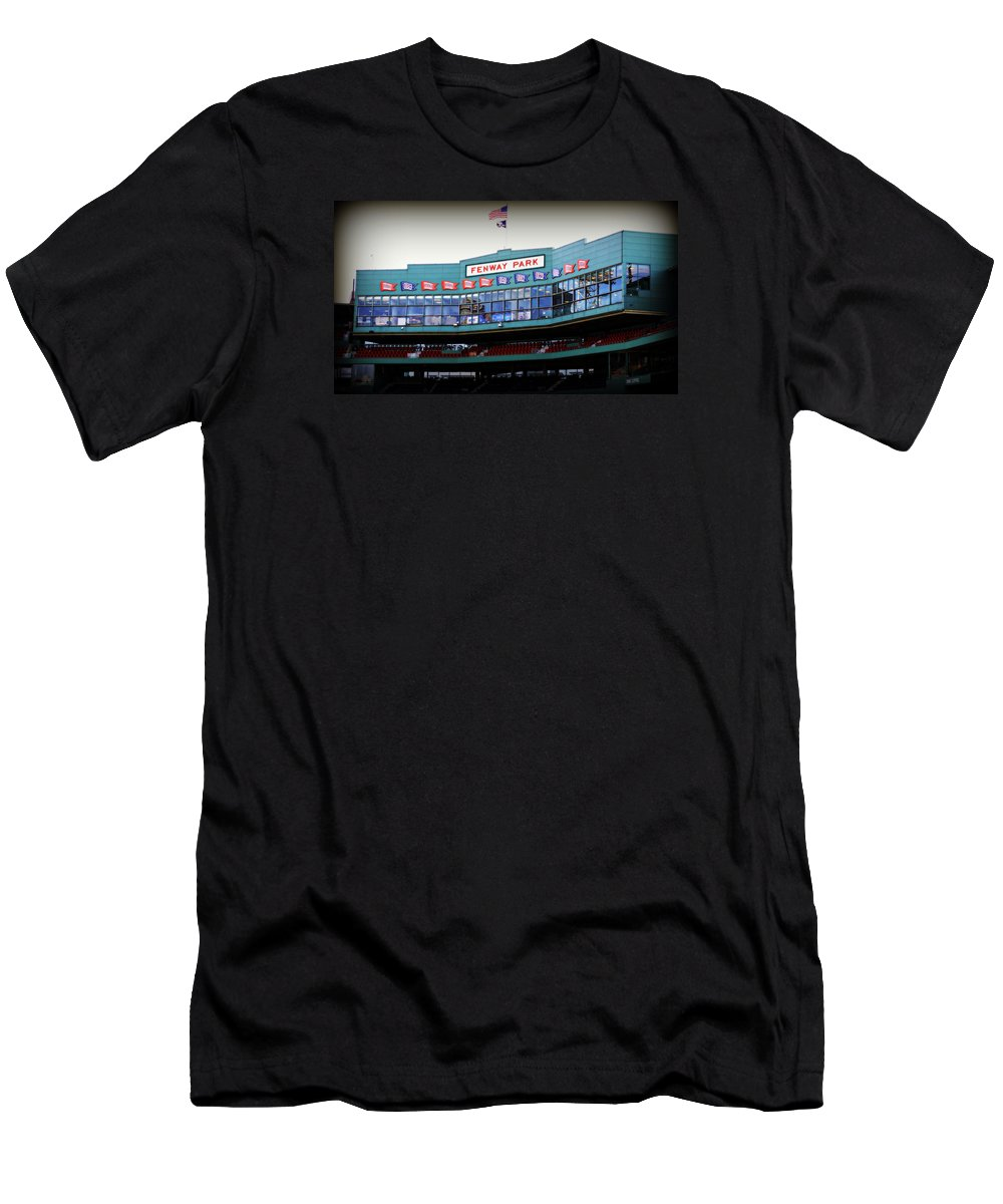 Fenway Park Men's T-Shirt (Athletic Fit) featuring the photograph Fenway Park by Stephen Stookey