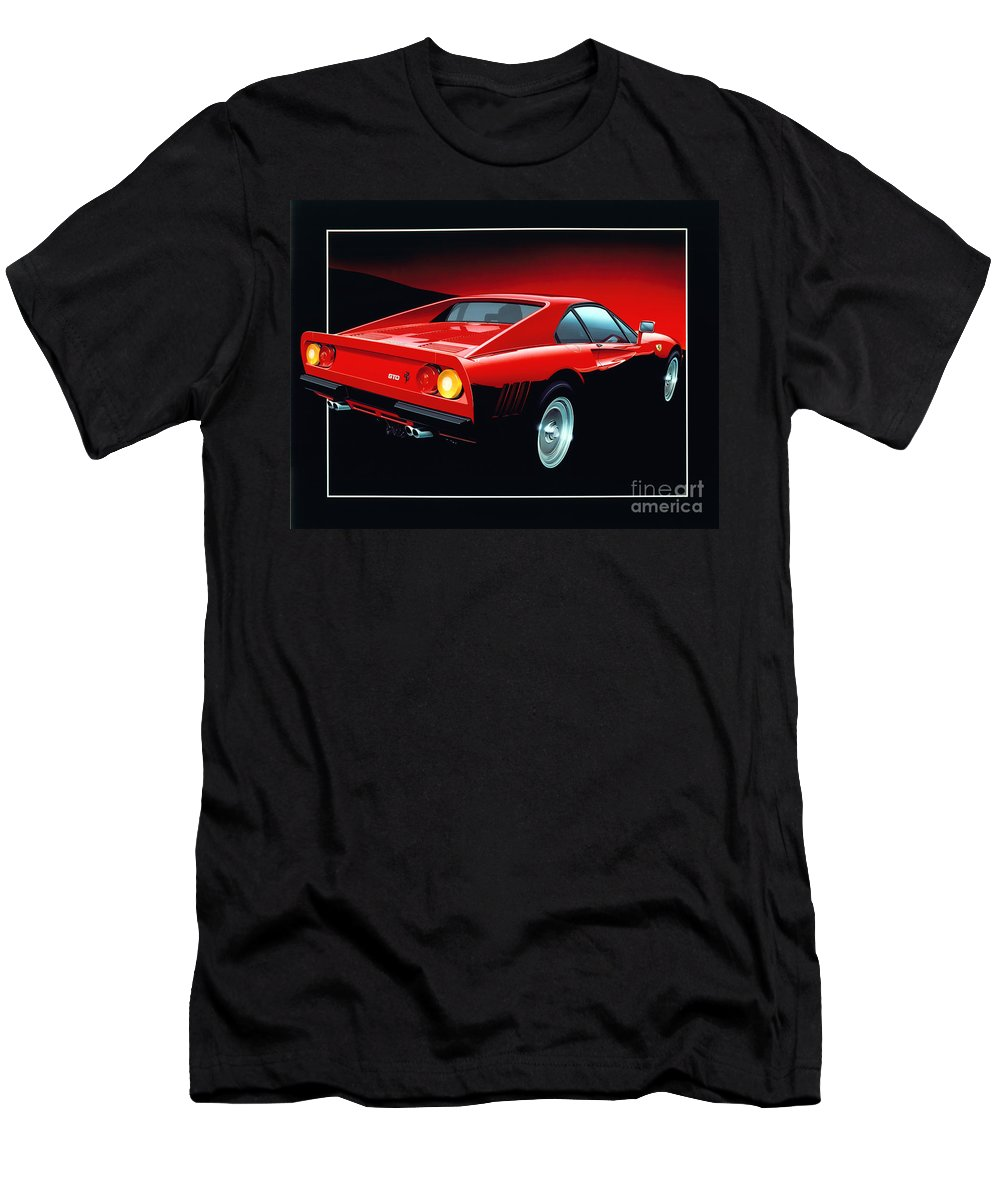 Car Men's T-Shirt (Athletic Fit) featuring the digital art Ferrari 288 Gto by MGL Meiklejohn Graphics Licensing