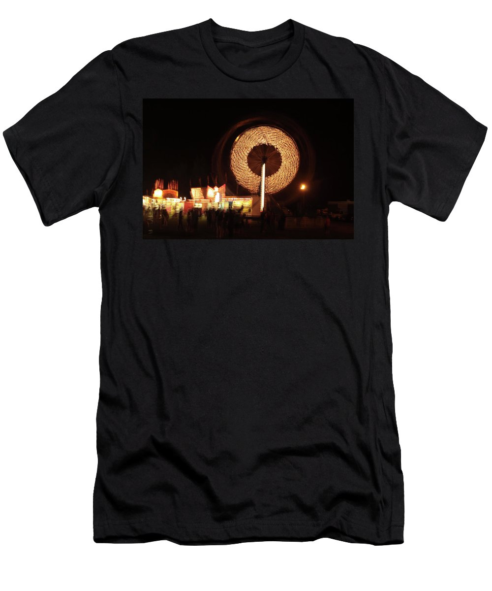 Carnival Men's T-Shirt (Athletic Fit) featuring the photograph Ferris Wheel Spin by Karol Livote