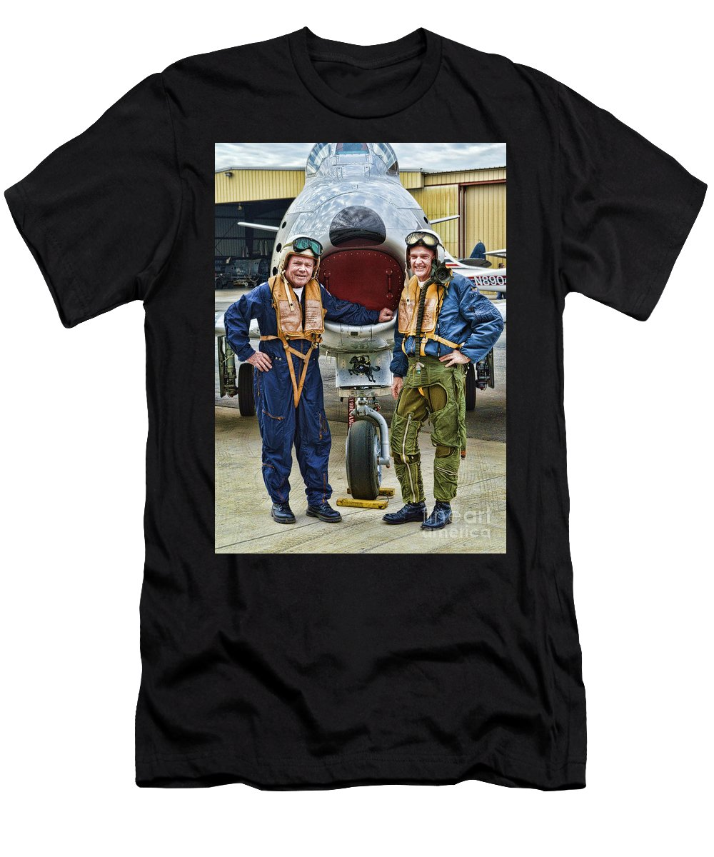 Fighter Pilots Men's T-Shirt (Athletic Fit) featuring the photograph Fighter Pilots by Tommy Anderson