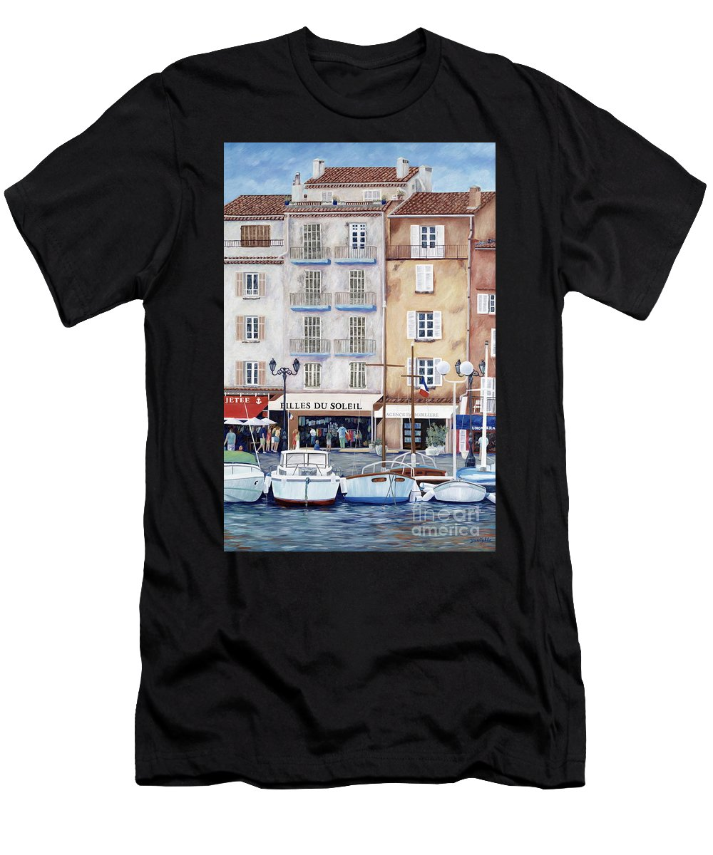St. Tropez Men's T-Shirt (Athletic Fit) featuring the painting Filles Du Soleil by Danielle Perry