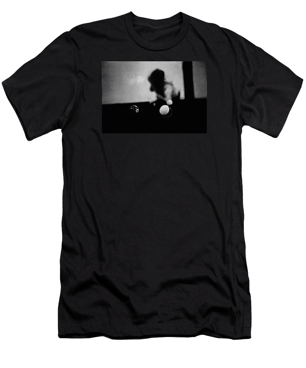 Film Homage Buster Keaton Sherlock Jr. 1924 Aberdeen South Dakota 1965-2008 Black And White Men's T-Shirt (Athletic Fit) featuring the photograph Film Homage Buster Keaton Sherlock Jr. 1924 Aberdeen South Dakota 1965-2008 by David Lee Guss