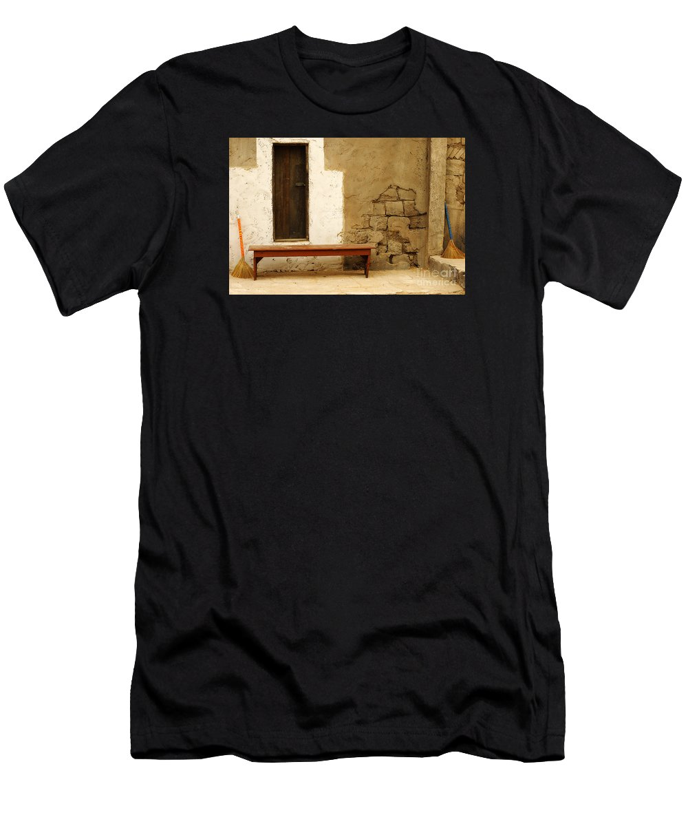 Door Men's T-Shirt (Athletic Fit) featuring the photograph Village Doorway by Micah May