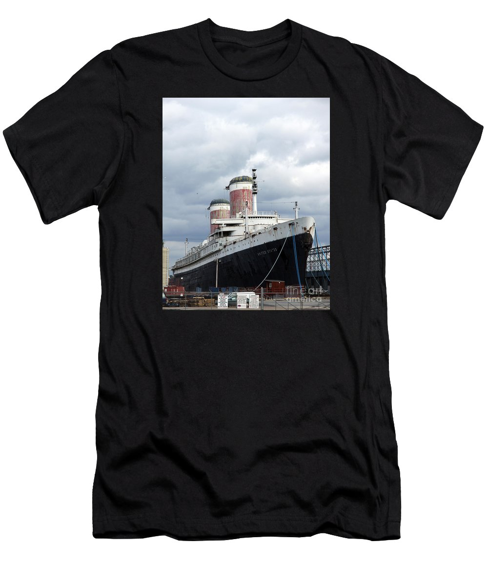 Ship Men's T-Shirt (Athletic Fit) featuring the photograph Final Destination - United States Liner by Christiane Schulze Art And Photography
