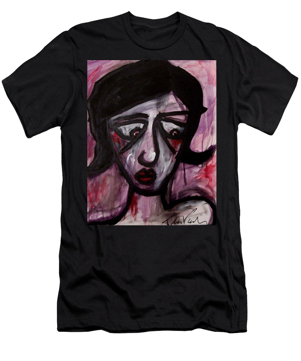 Portait Men's T-Shirt (Athletic Fit) featuring the painting Finals by Thomas Valentine