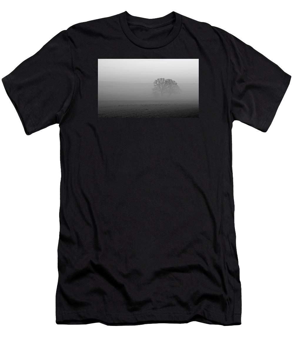 Fog Men's T-Shirt (Athletic Fit) featuring the photograph Finding Our Way by Miguel Winterpacht