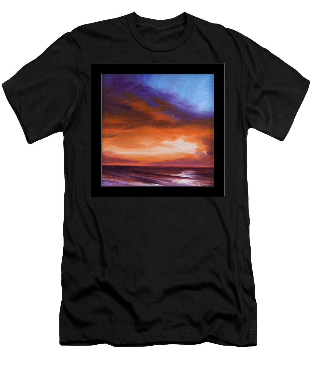 Sunrise T-Shirt featuring the painting Firesun Sky by James Christopher Hill