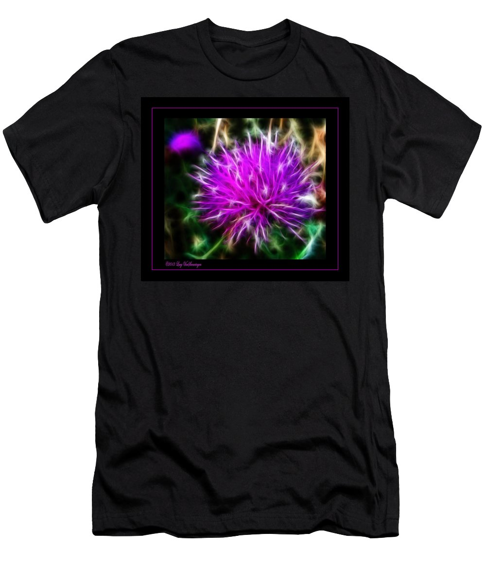 Purple T-Shirt featuring the photograph Fireworks by Lucy VanSwearingen