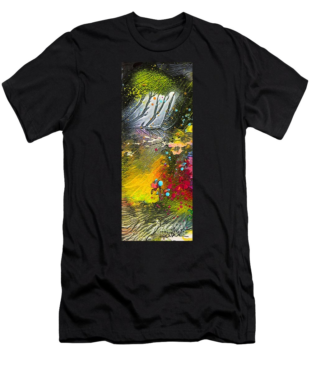 Miki Men's T-Shirt (Athletic Fit) featuring the painting First Light by Miki De Goodaboom