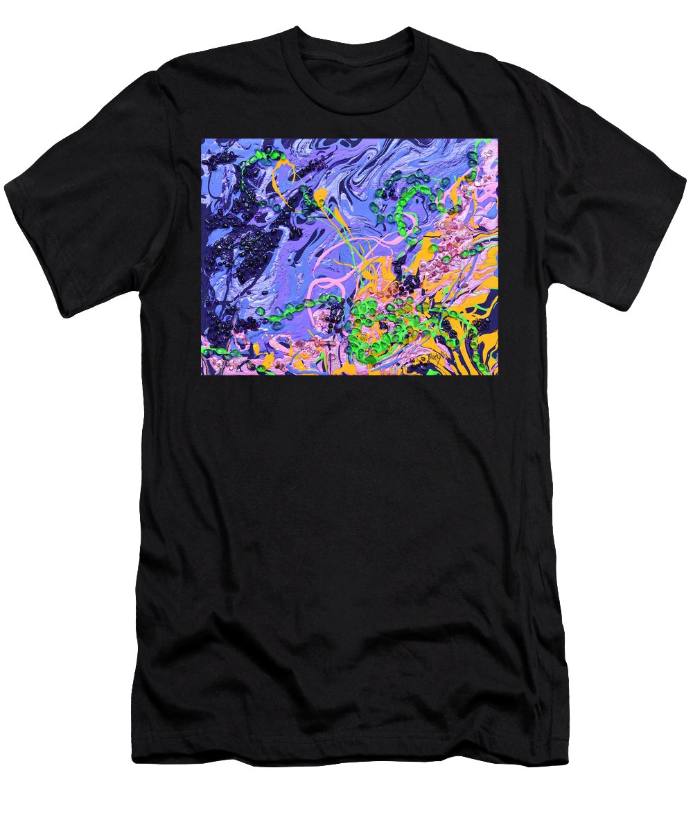 Love Men's T-Shirt (Athletic Fit) featuring the painting First Love by Donna Blackhall