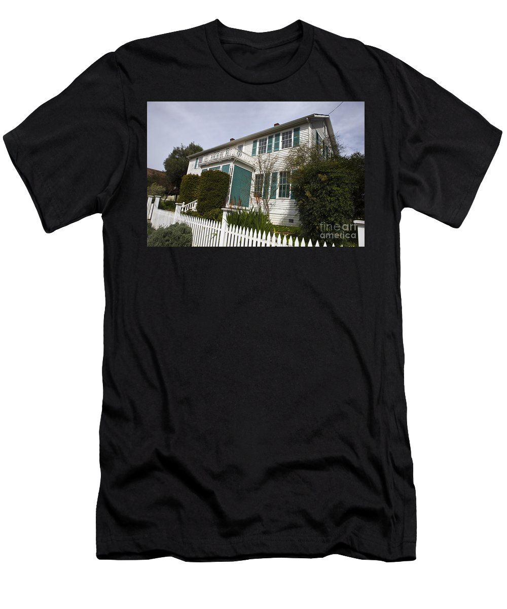 Travel Men's T-Shirt (Athletic Fit) featuring the photograph Fischer-hanlon House Benicia California by Jason O Watson