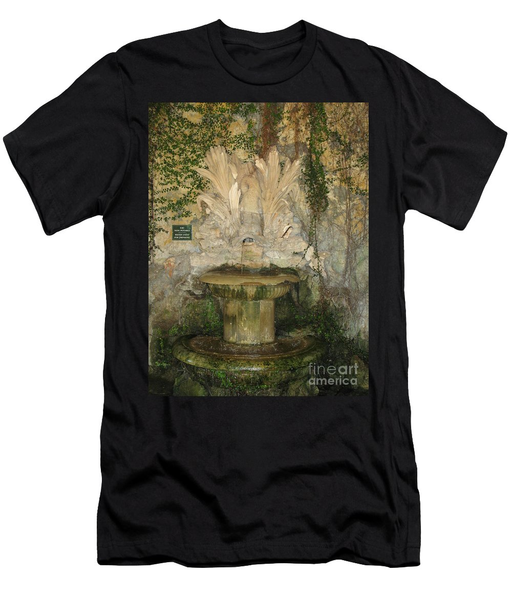 Fountain Men's T-Shirt (Athletic Fit) featuring the photograph Fish Fountain by Christiane Schulze Art And Photography