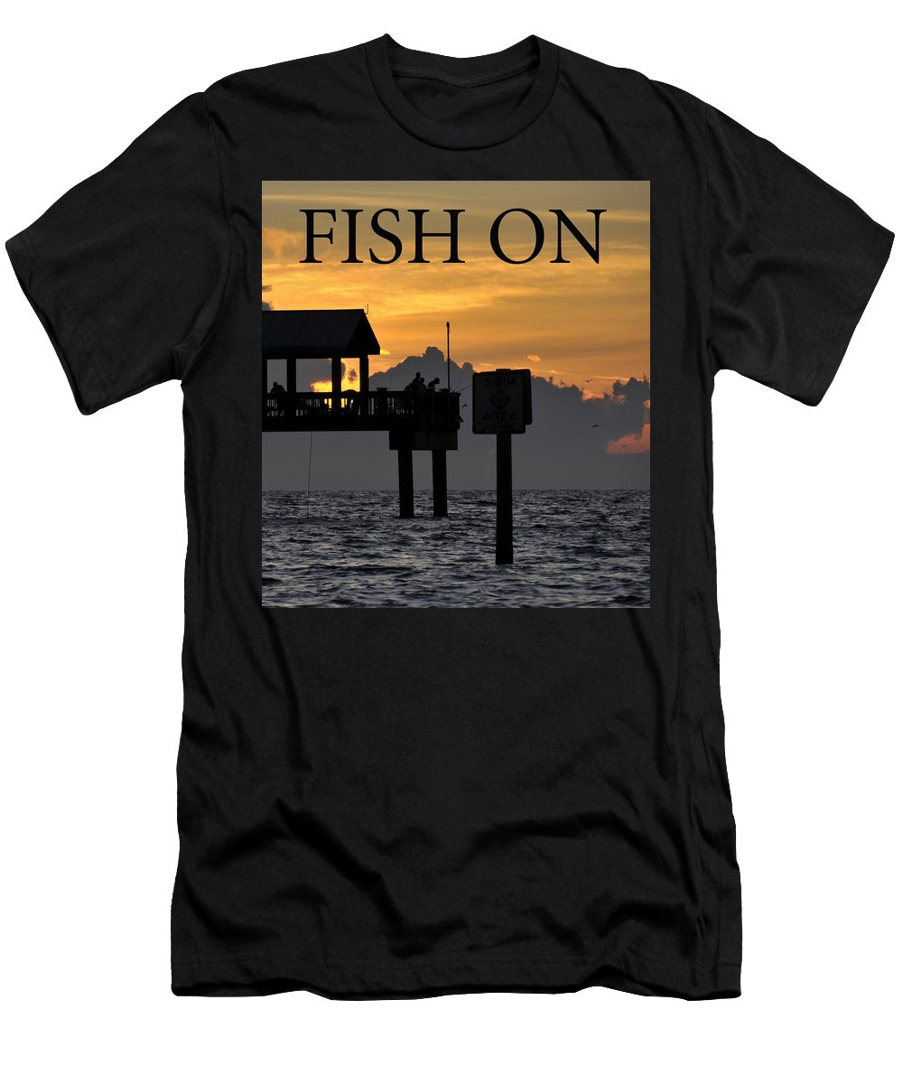 Inspirational Men's T-Shirt (Athletic Fit) featuring the photograph Fish On Work One by David Lee Thompson