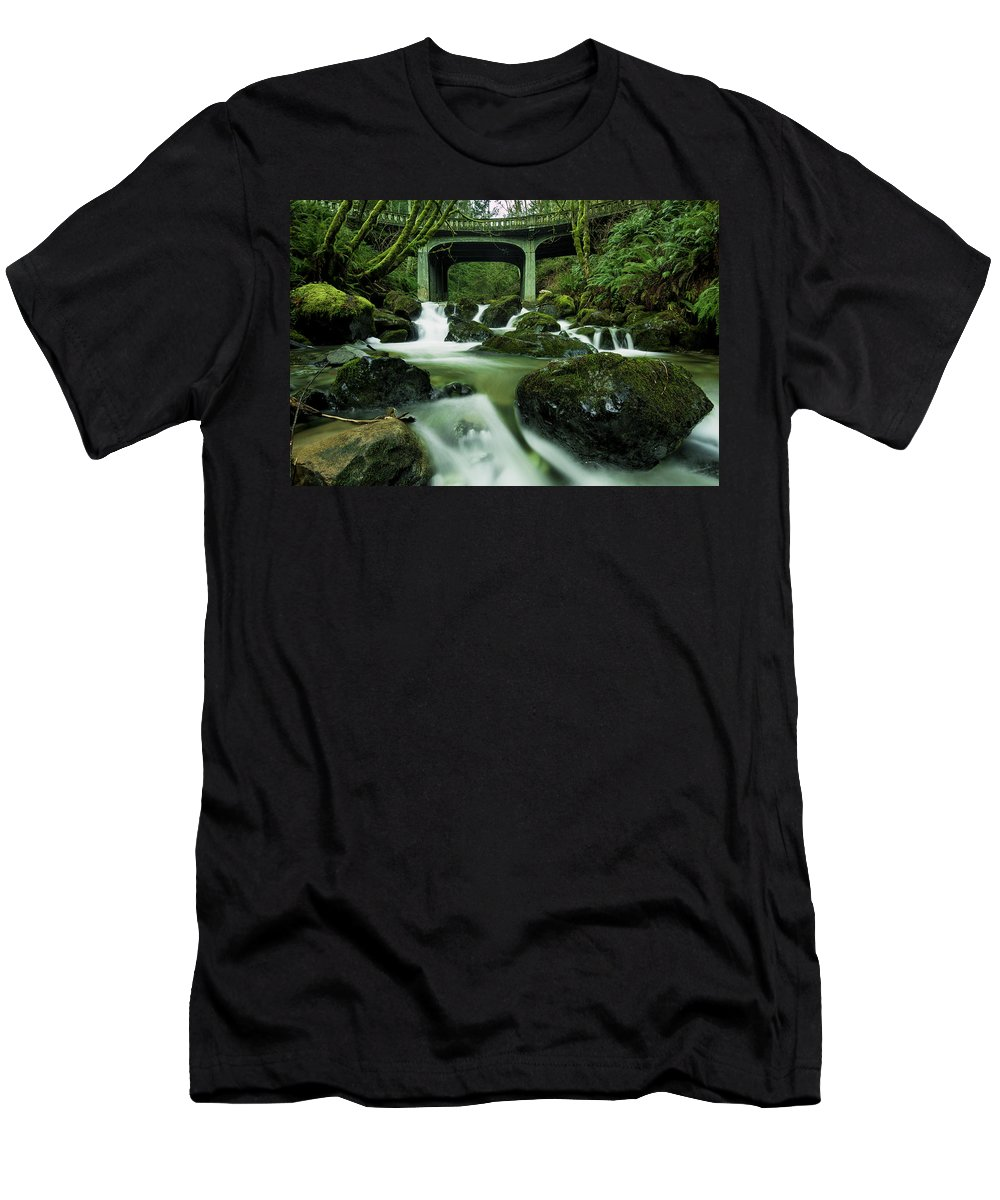 Creek Men's T-Shirt (Athletic Fit) featuring the photograph Fisherman's Creek by Ryan McGinnis