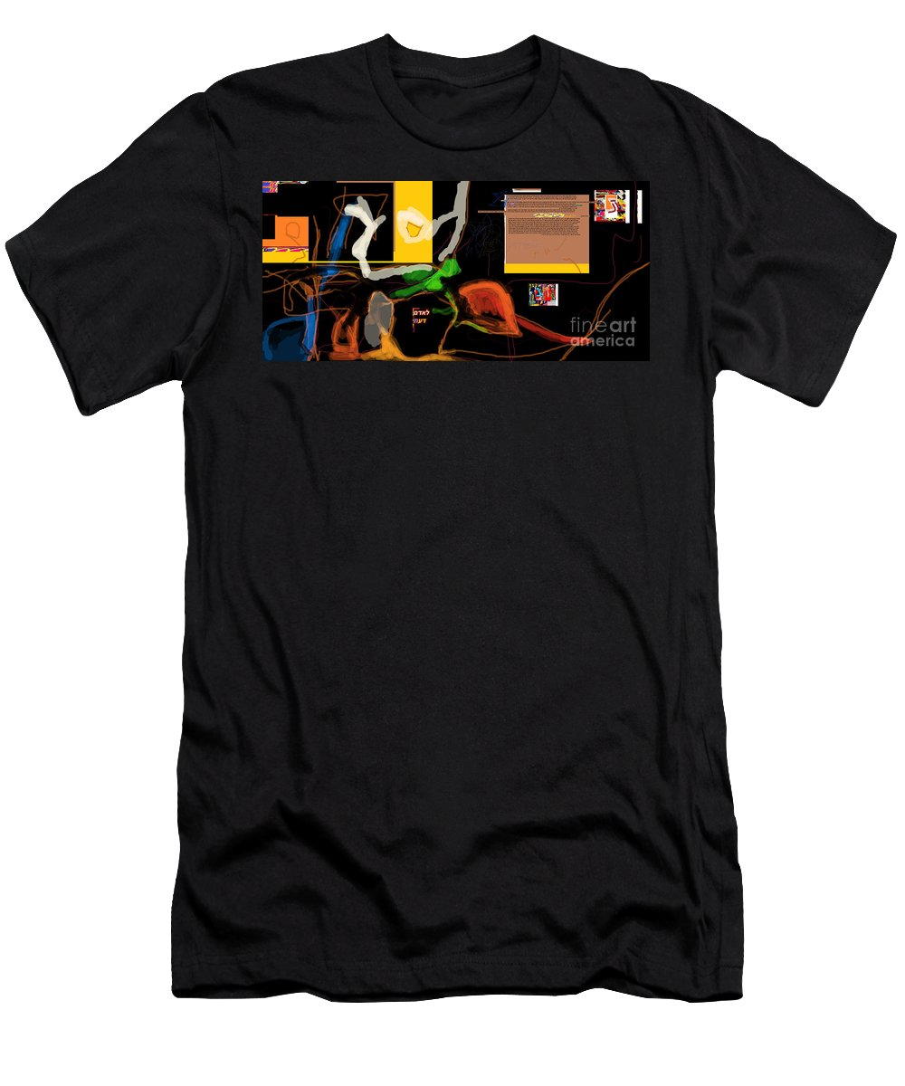 Men's T-Shirt (Athletic Fit) featuring the digital art Fixing Space 1d by David Baruch Wolk