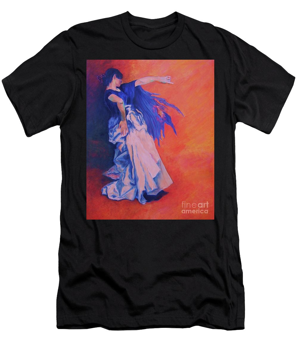 Flamenco-dancer-oilpainting T-Shirt featuring the painting FLAMENCO-John Singer-Sargent by Dagmar Helbig