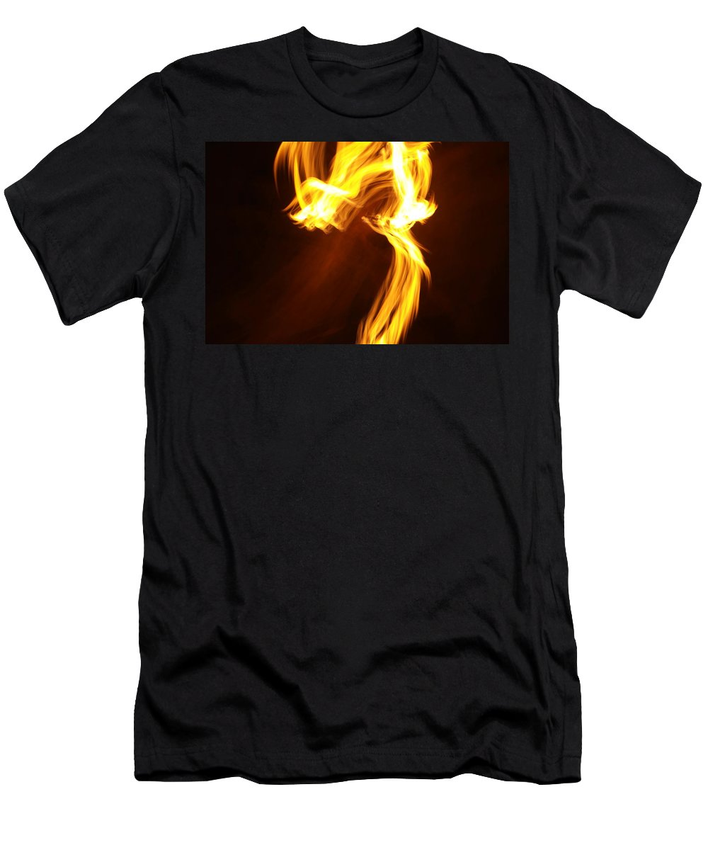 Abstract Men's T-Shirt (Athletic Fit) featuring the photograph Flames by Jeff Swan