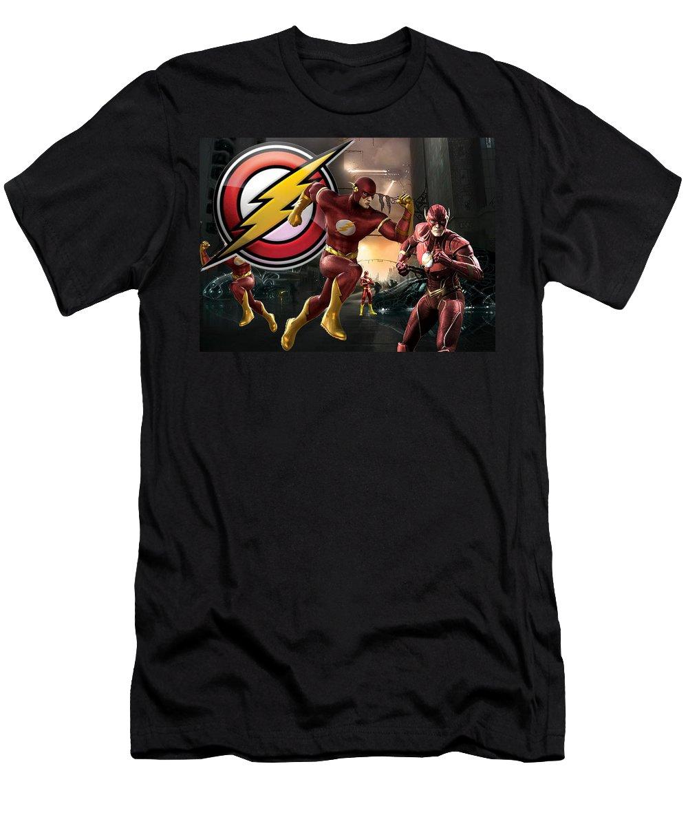 Flash Men's T-Shirt (Athletic Fit) featuring the digital art Flash by Edward Cormier Jr
