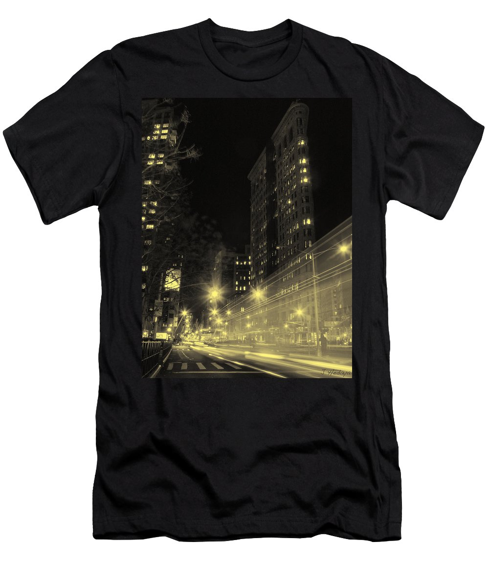 Nyc Men's T-Shirt (Athletic Fit) featuring the photograph Flatiron Building Nyc by Joseph Hedaya
