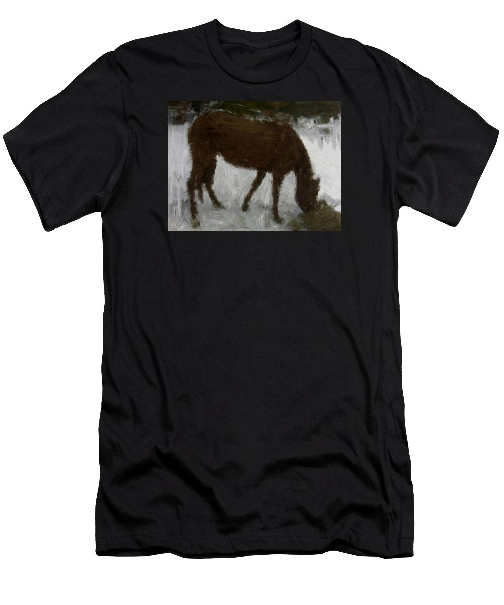 House Men's T-Shirt (Athletic Fit) featuring the painting Flicka by Bruce Nutting