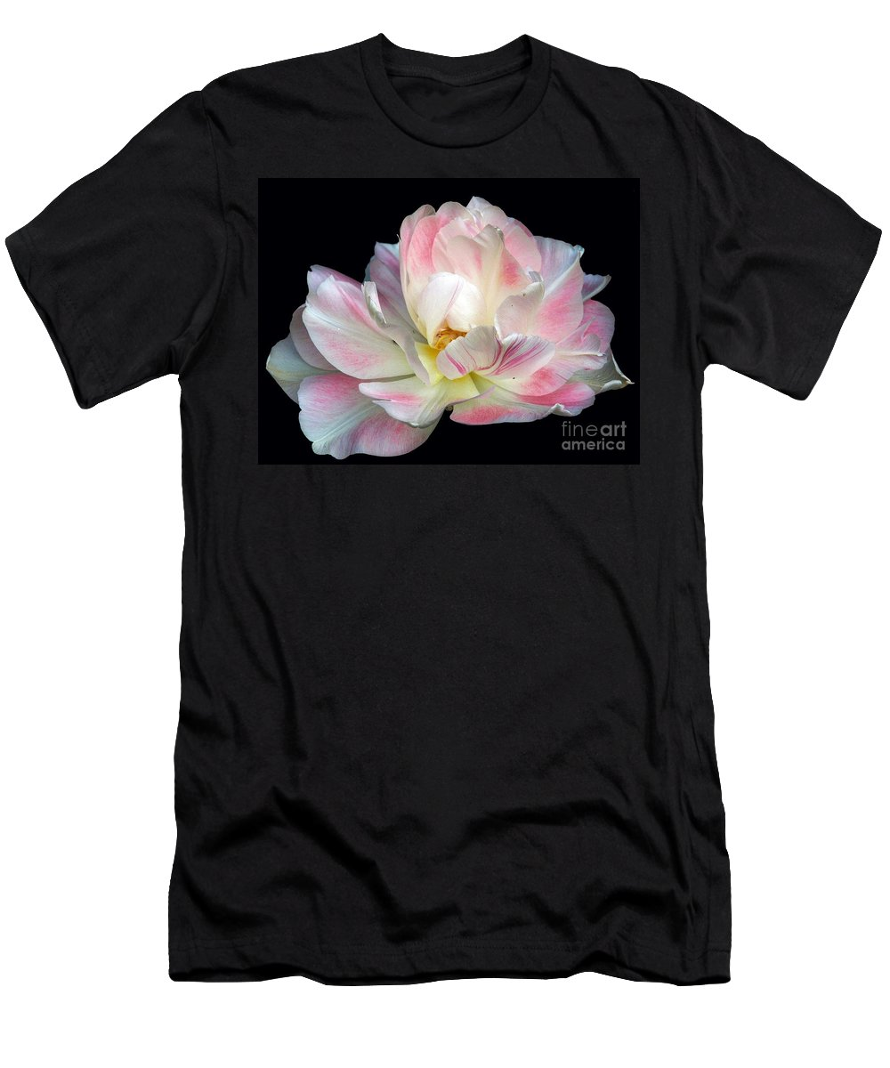 Tulip Men's T-Shirt (Athletic Fit) featuring the photograph Floating by Brothers Beerens