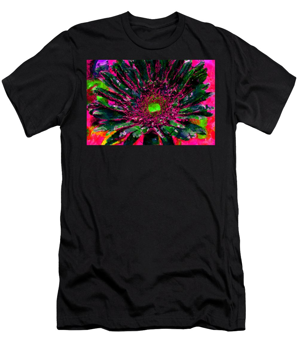 Men's T-Shirt (Athletic Fit) featuring the mixed media Floral Revolution 2 by Angelina Tamez
