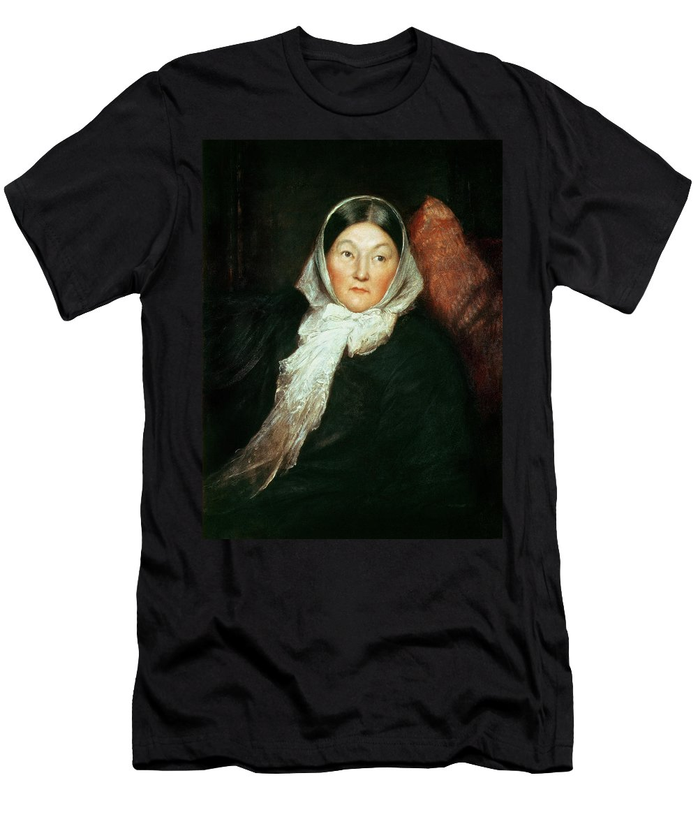 85f47a53aa825 Florence Nightingale Men's T-Shirt (Athletic Fit) featuring the painting  Florence Nightingale by