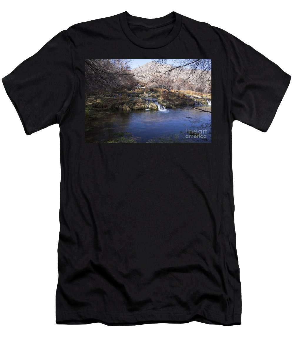 Ice Men's T-Shirt (Athletic Fit) featuring the photograph Flow V10 by Douglas Barnard