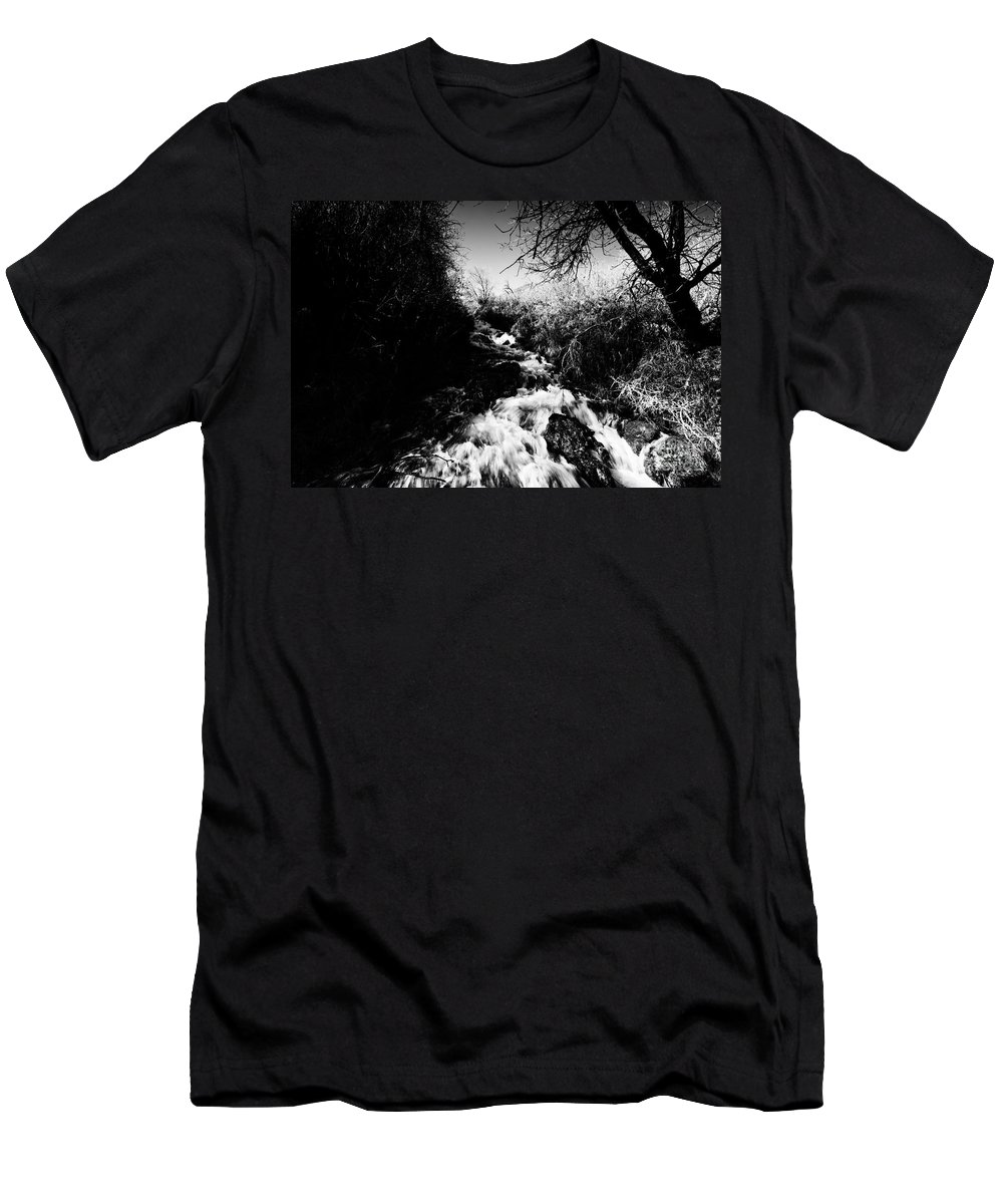 Ice Men's T-Shirt (Athletic Fit) featuring the photograph Flow V13 by Douglas Barnard