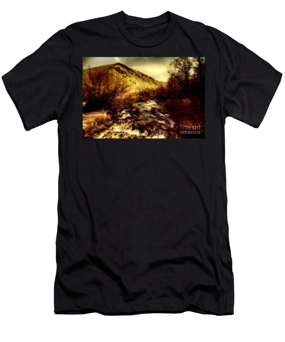 Ice Men's T-Shirt (Athletic Fit) featuring the photograph Flow V14 by Douglas Barnard