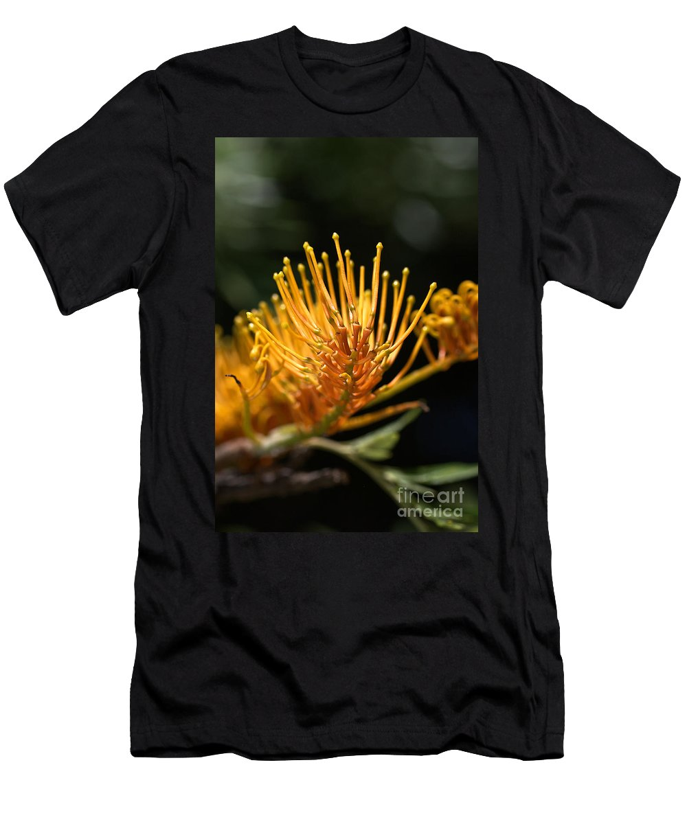 Flower Men's T-Shirt (Athletic Fit) featuring the photograph Flower-grevillea-australian Native by Joy Watson