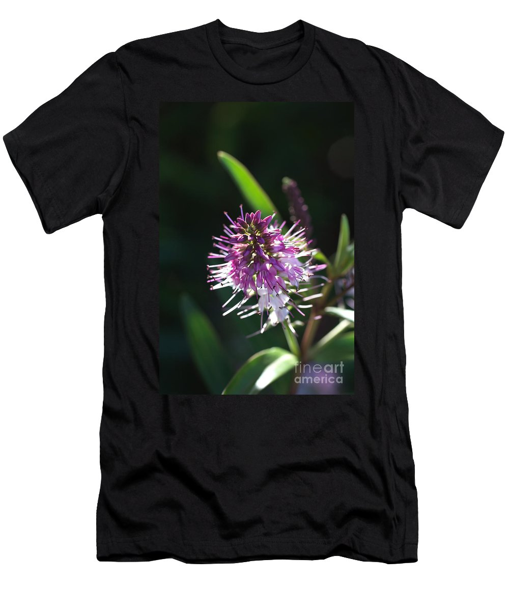 Flower Men's T-Shirt (Athletic Fit) featuring the photograph Flower-hebe by Joy Watson