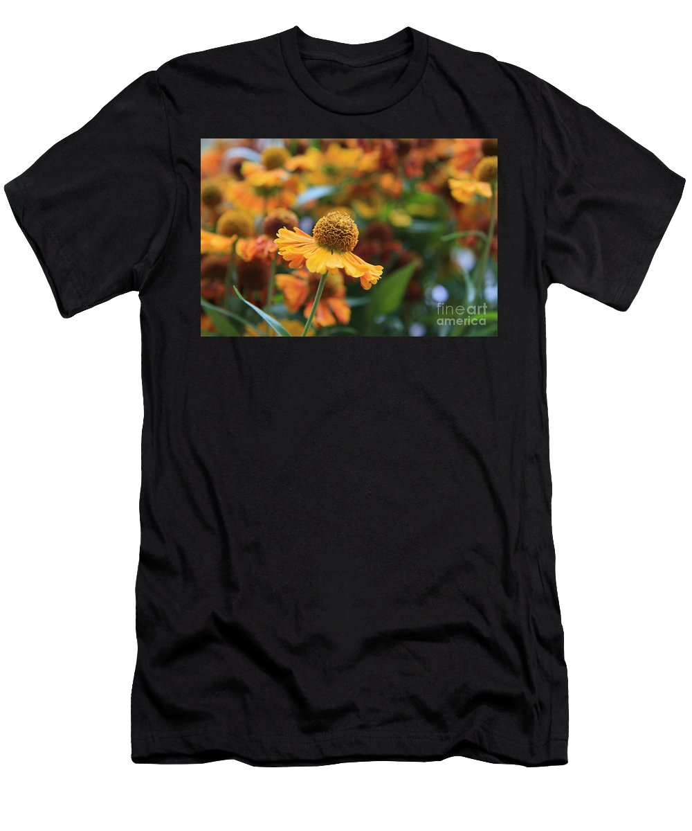 Yellow Men's T-Shirt (Athletic Fit) featuring the photograph Flower by Lali Kacharava