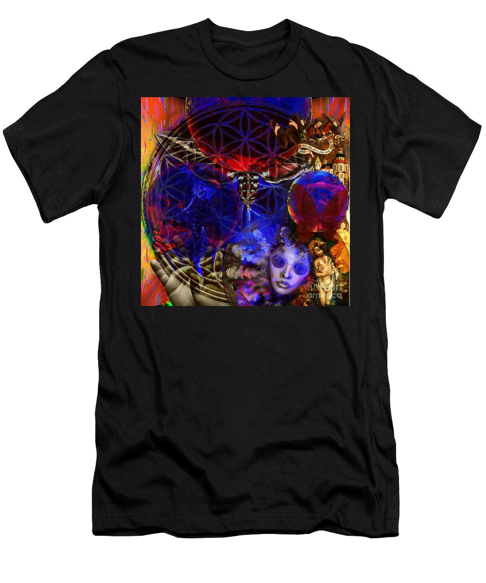 Fibonacci System Men's T-Shirt (Athletic Fit) featuring the digital art Flower Of Creation by Joseph Mosley