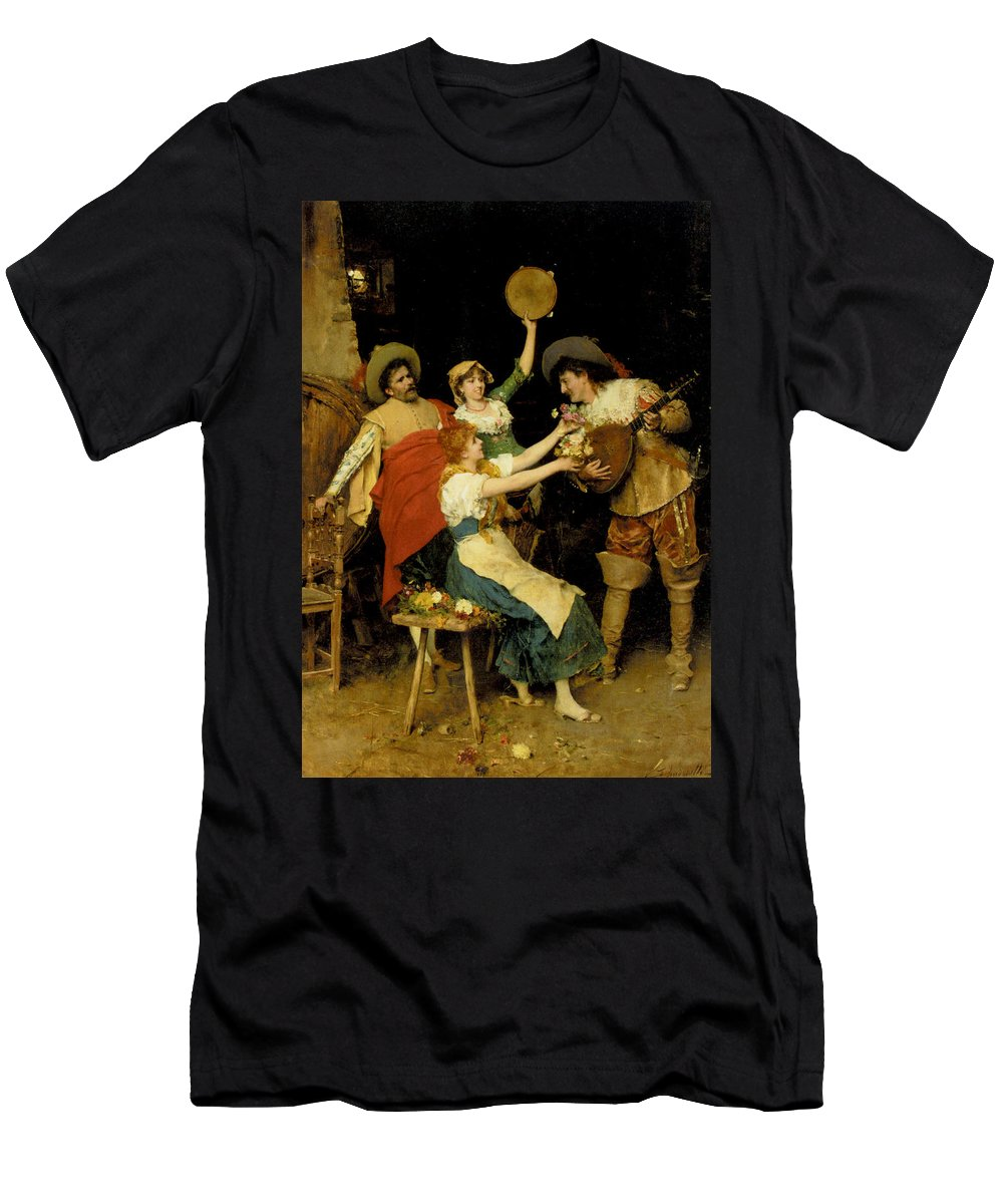 Federico Andreotti Men's T-Shirt (Athletic Fit) featuring the photograph Flowers For Music by Federico Andreotti