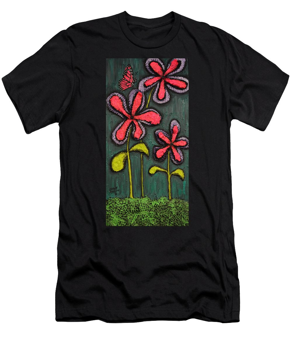 Landscape Men's T-Shirt (Athletic Fit) featuring the painting Flowers For Sydney by Shawn Marlow