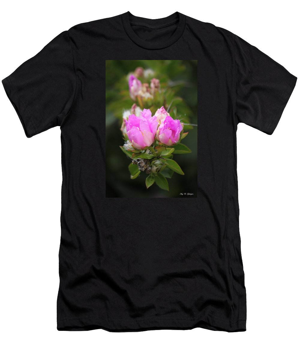 Flowers Men's T-Shirt (Athletic Fit) featuring the photograph Flowers For You by Amy Gallagher