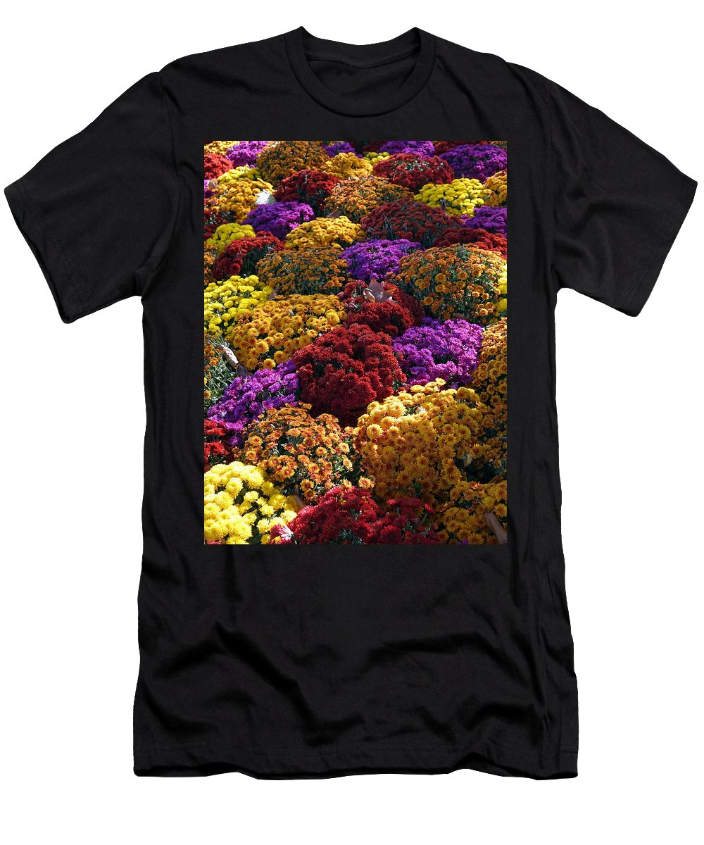 Paris Men's T-Shirt (Athletic Fit) featuring the photograph Flowers Near The Grand Palais Off Of Champ Elysees In Paris France  by Richard Rosenshein