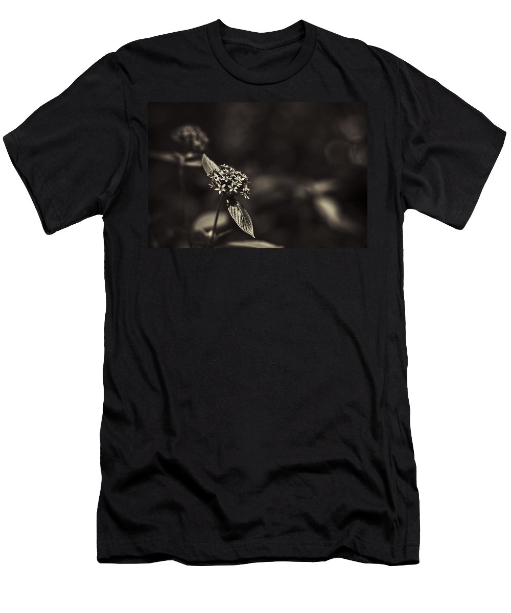 Flowers Men's T-Shirt (Athletic Fit) featuring the photograph Flowers Sepia by Bradley R Youngberg