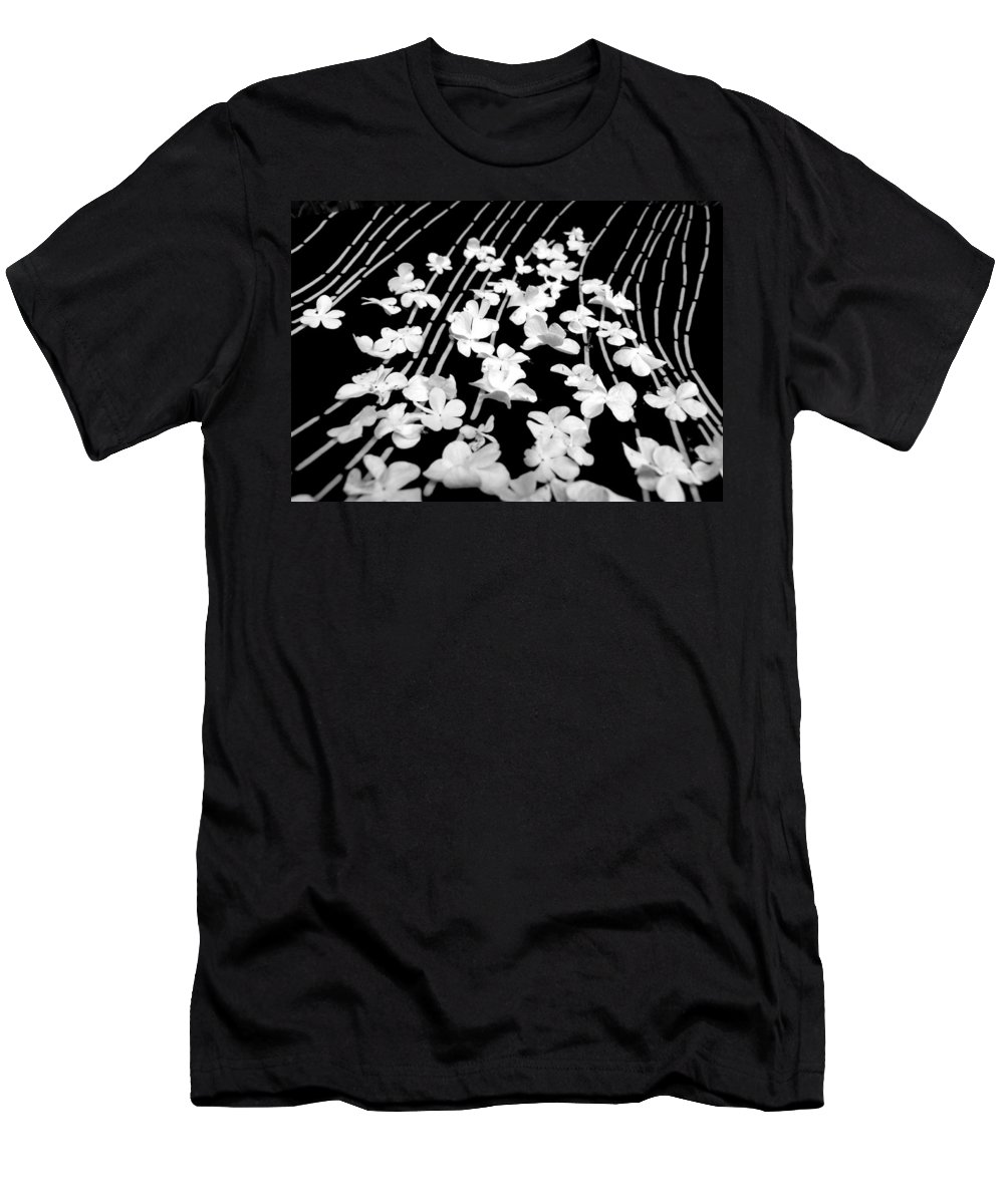 Blossoms Men's T-Shirt (Athletic Fit) featuring the photograph Flowery Flow by Vanessa Thomas