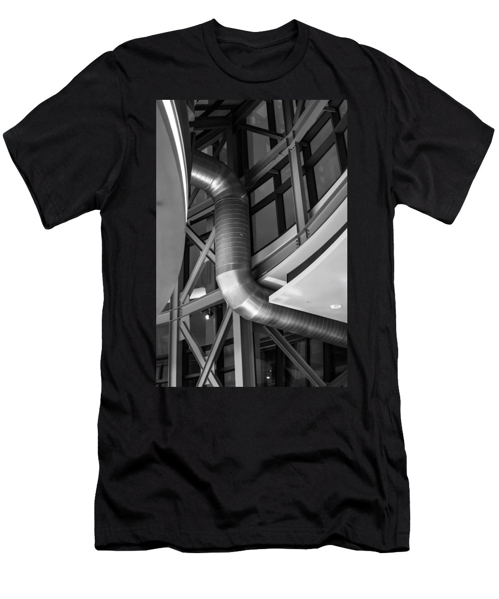 2008 Men's T-Shirt (Athletic Fit) featuring the photograph Flowing Duct by Melinda Ledsome