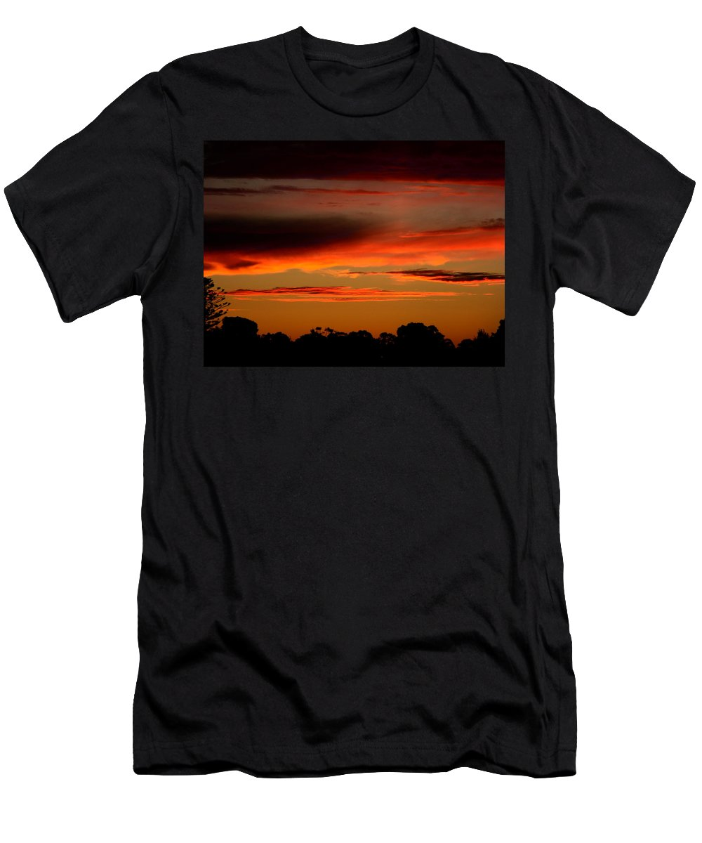 Sunset Men's T-Shirt (Athletic Fit) featuring the photograph Fluorescent Sunset by Mark Blauhoefer