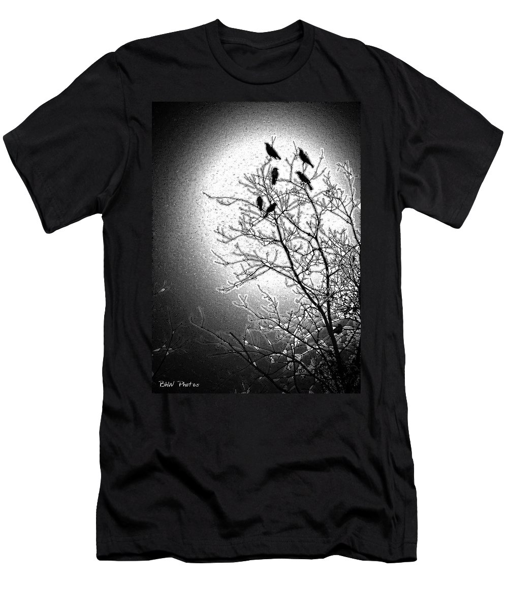 Birds Men's T-Shirt (Athletic Fit) featuring the photograph Fly Away Home2 by Bonnie Willis