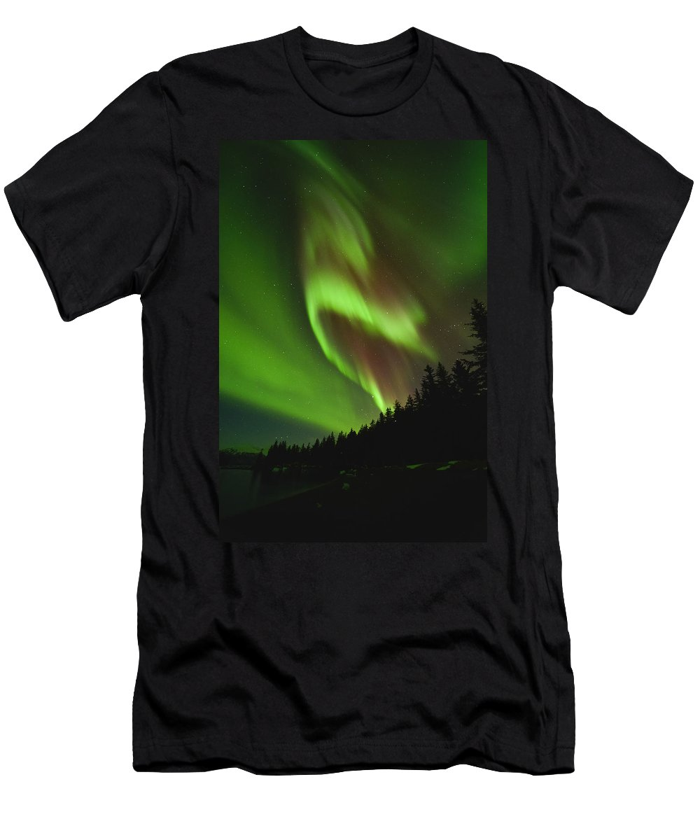 Aurora Men's T-Shirt (Athletic Fit) featuring the photograph Fold In Space by Ted Raynor