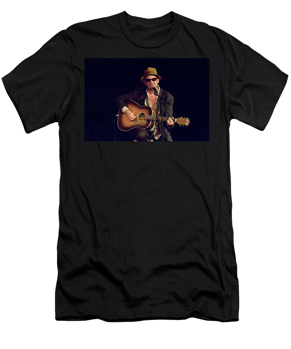 Art Men's T-Shirt (Athletic Fit) featuring the photograph Folk Singer Greg Brown by Randall Nyhof