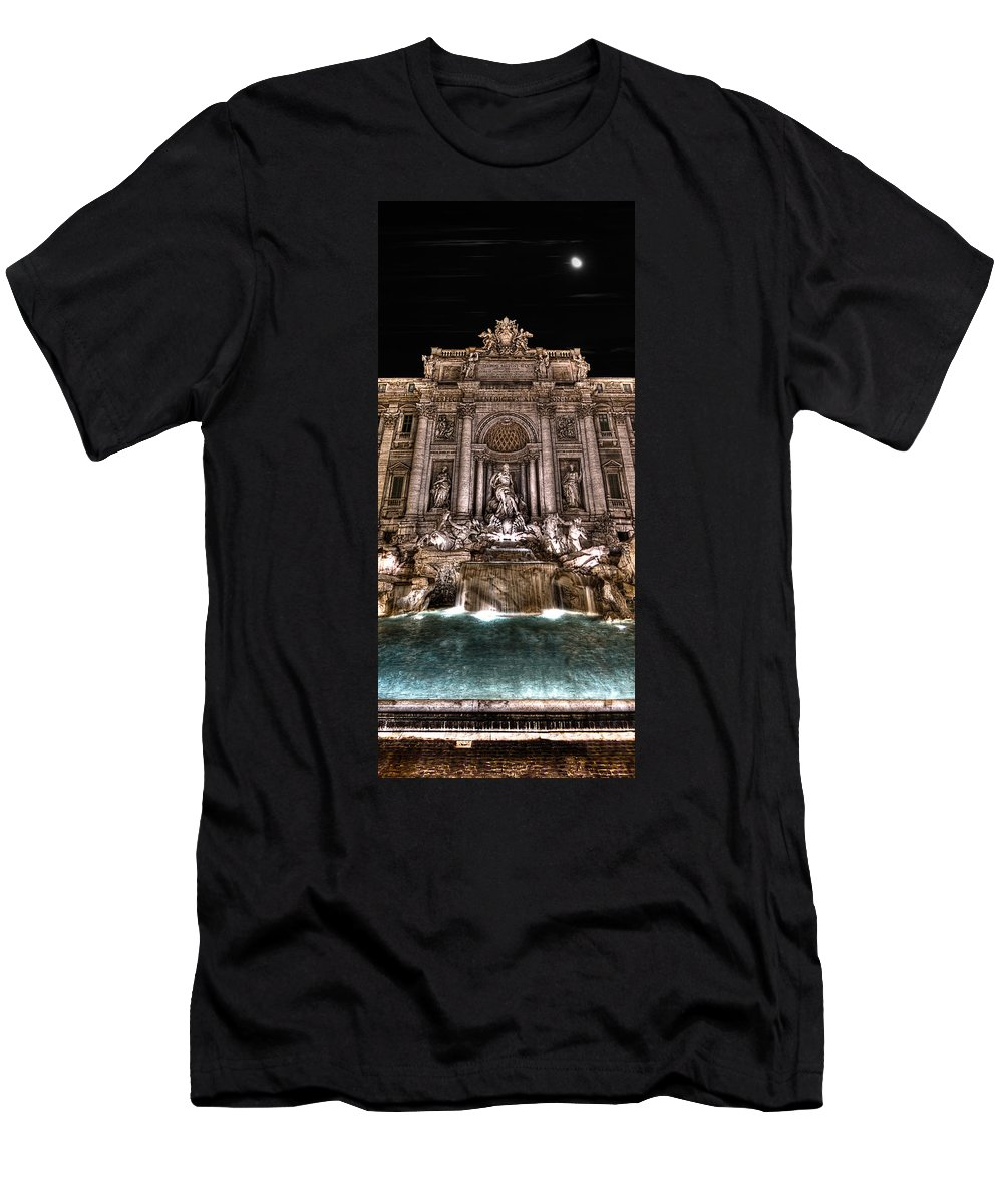 Fontana Di Trevi Men's T-Shirt (Athletic Fit) featuring the photograph Fontana Di Trevi by Weston Westmoreland