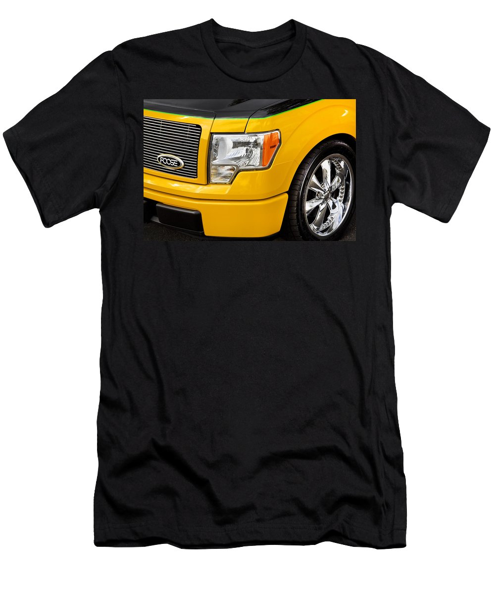 Trucks Men's T-Shirt (Athletic Fit) featuring the photograph Foose Ford Truck by Rich Franco