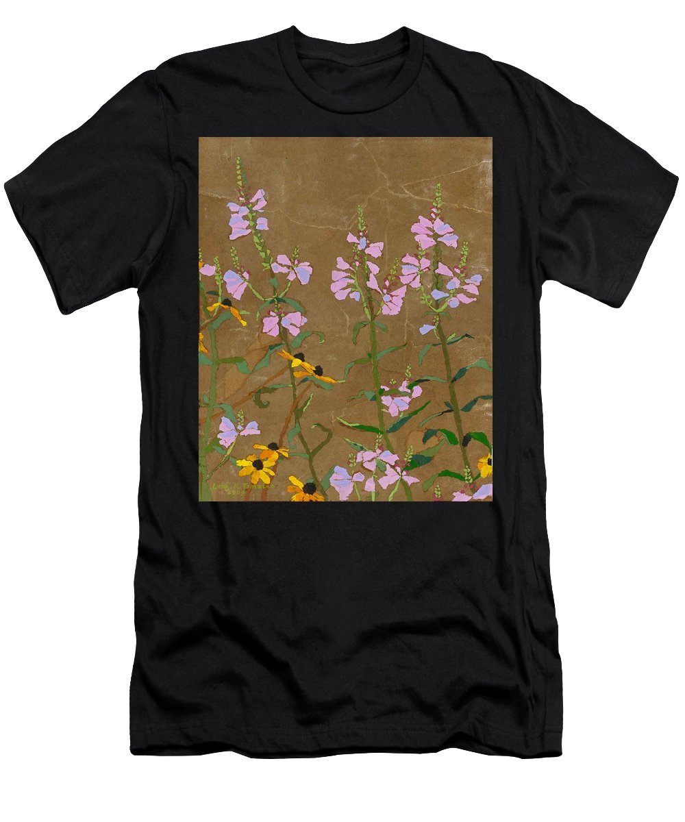 Floral Men's T-Shirt (Athletic Fit) featuring the painting For Jack From Woodstock by Leah Tomaino