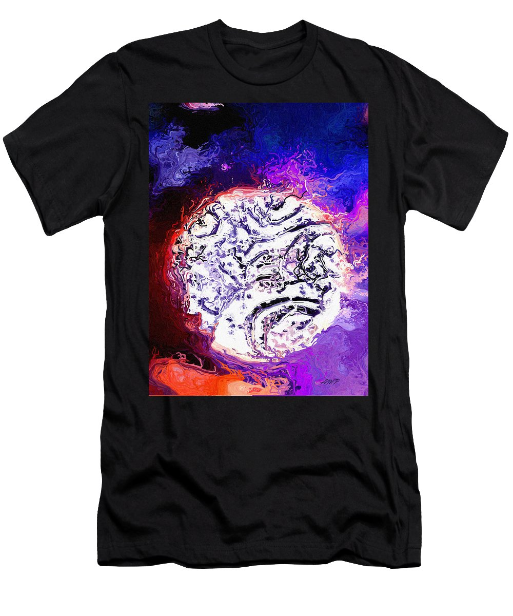 Moon Men's T-Shirt (Athletic Fit) featuring the digital art Foreign Moon by April Patterson