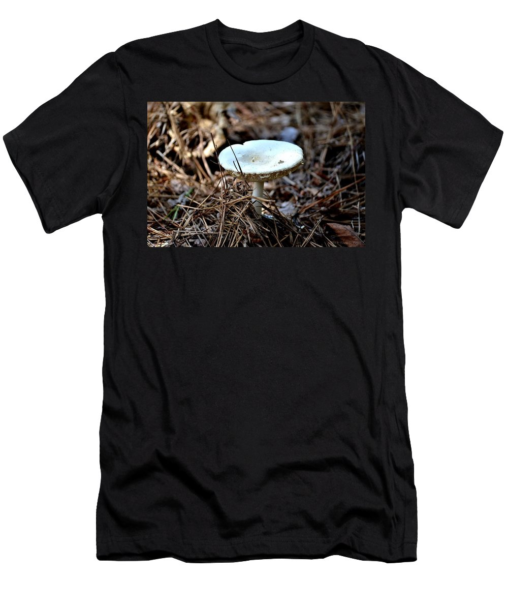 Fungus Men's T-Shirt (Athletic Fit) featuring the photograph Forest Fungus by Tara Potts